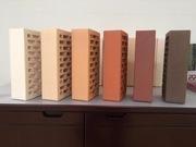 Кирпич керамический облицовочный и строительный полнотелый,  шамотный.